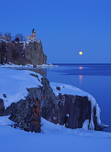 Valentine's Day Moonrise at Split Rock 001