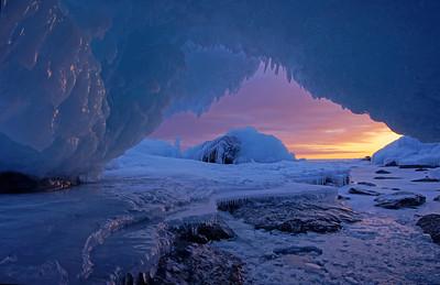 Ice Cave Grand Portage