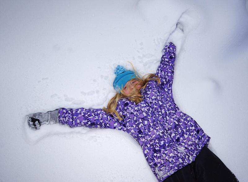 Alexa enjoying the snow
