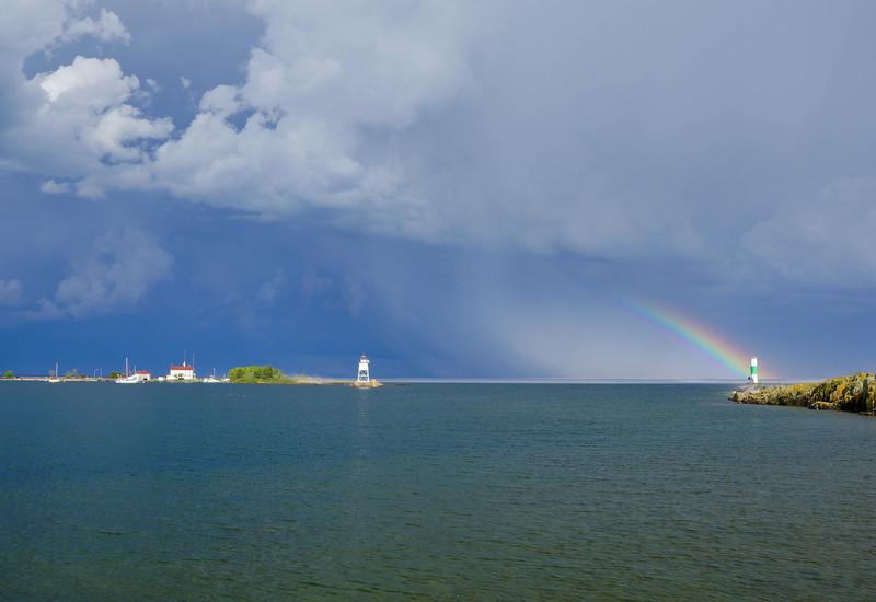 Storm Over Grand Marais Harbor 003