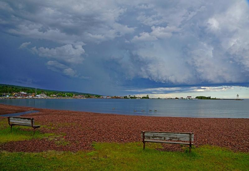 Storm Over Grand Marais Harbor 001