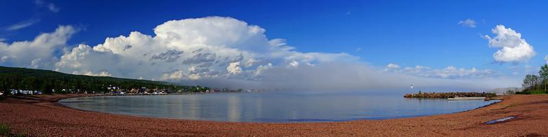 Storm Over Grand Marais Harbor 005