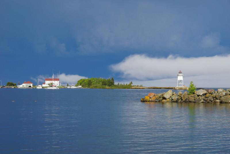 Storm Over Grand Marais Harbor 004