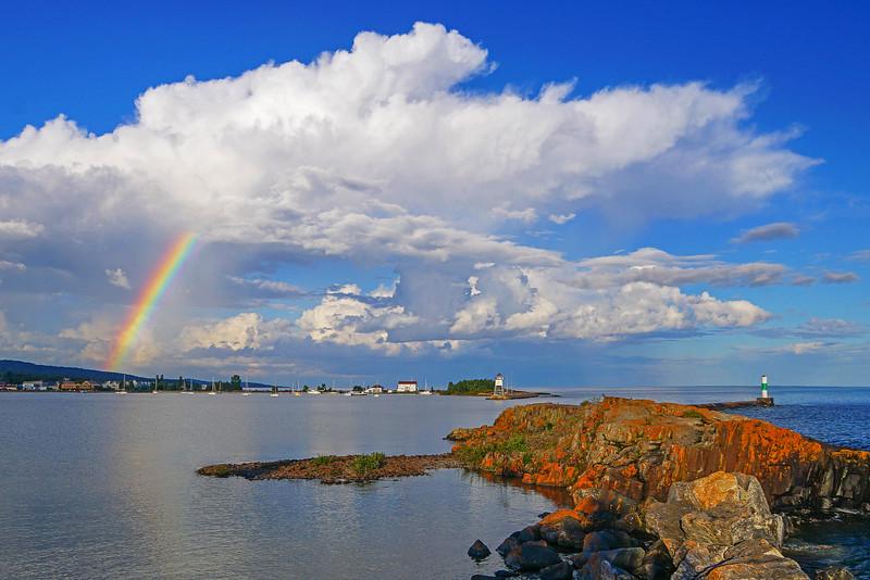 Rainbow Grand Marais Harbor
