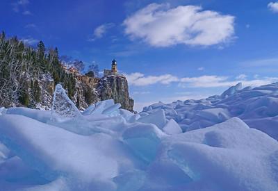 Split Rock LIghthouse Ice Shards