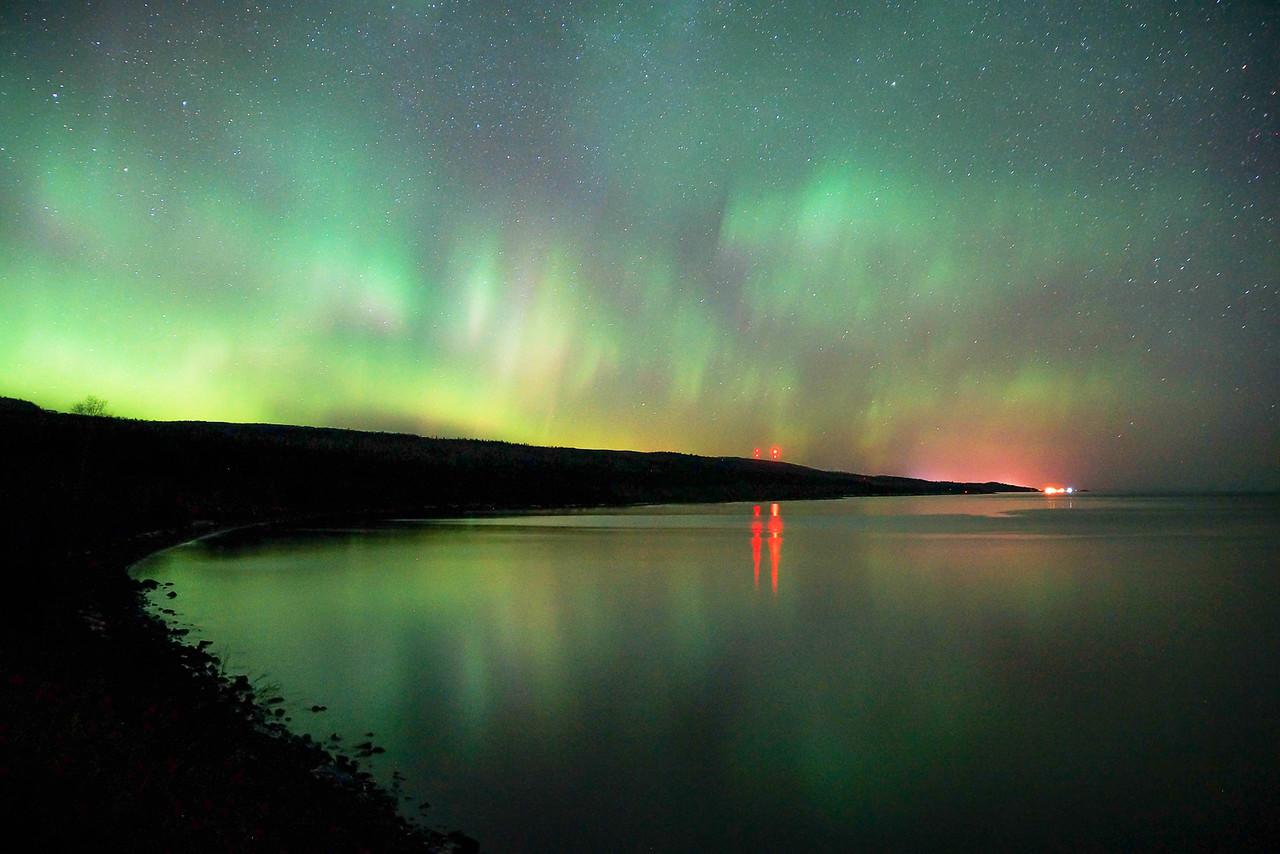 St. Patrick's Day aurora over Grand Marais 002