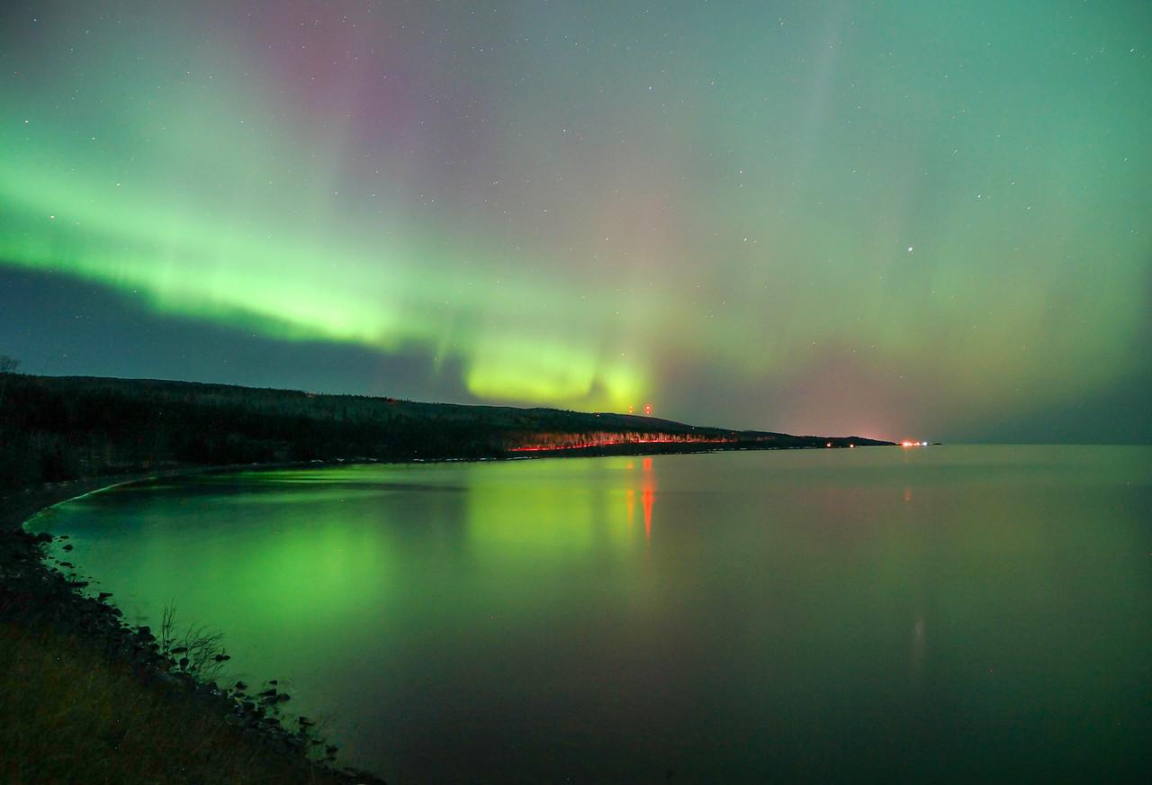 St. Patrick's Day aurora over Grand Marais 001