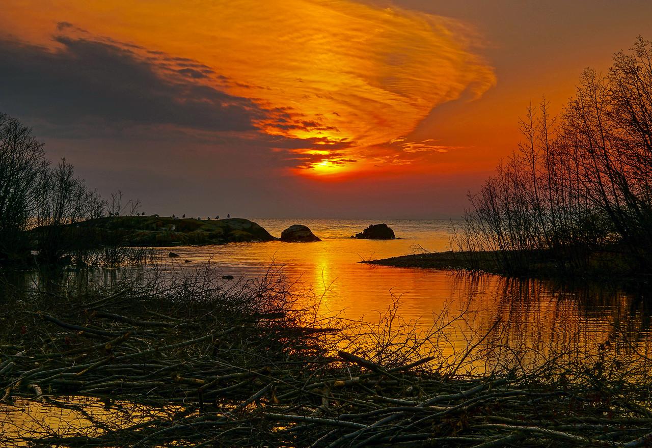 Sunset over Lake Superior Beaver Pond