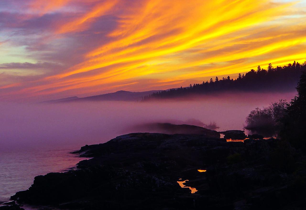 September Grand Marais Sunset 001