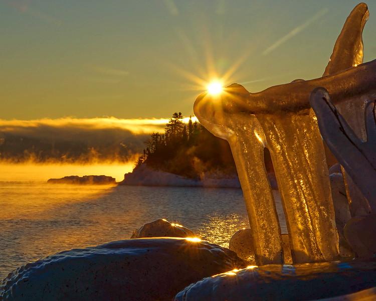 Lake Superior Shoreline Ice 003