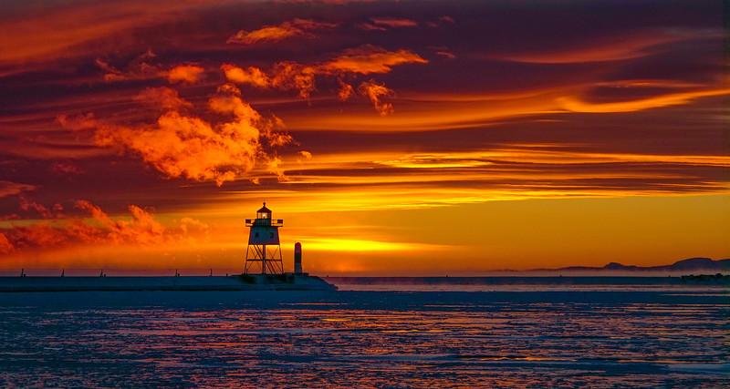 Lake Superior Subzero Sunset 003