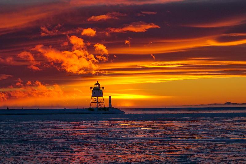Lake Superior Subzero Sunset 002