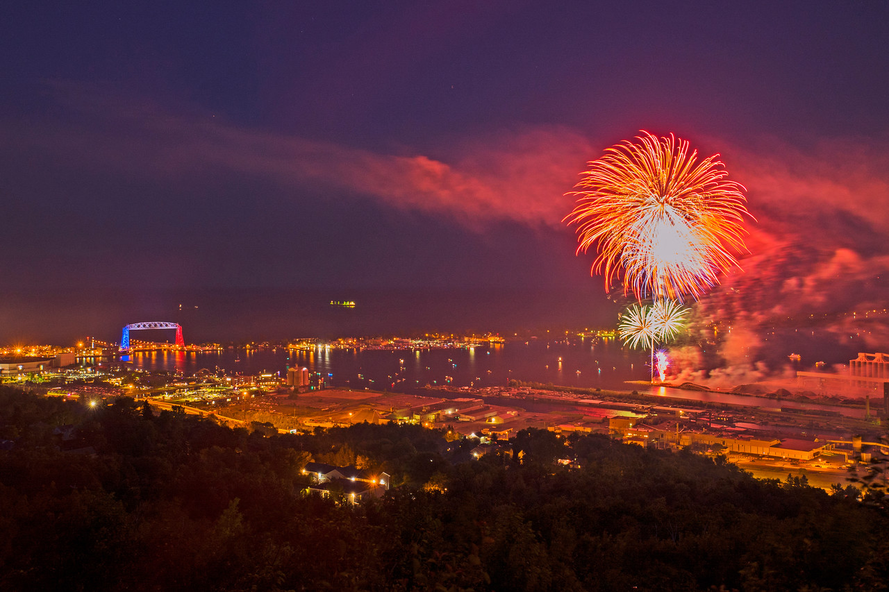 Duluth Waterfront Fireworks