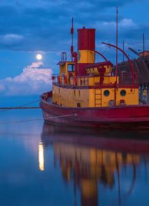 Agate Bay Moonrise 002