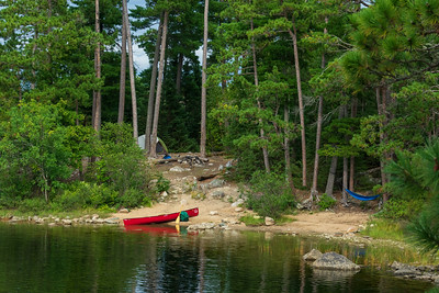 Boundary Waters Canoe Area Wilderness Campsite