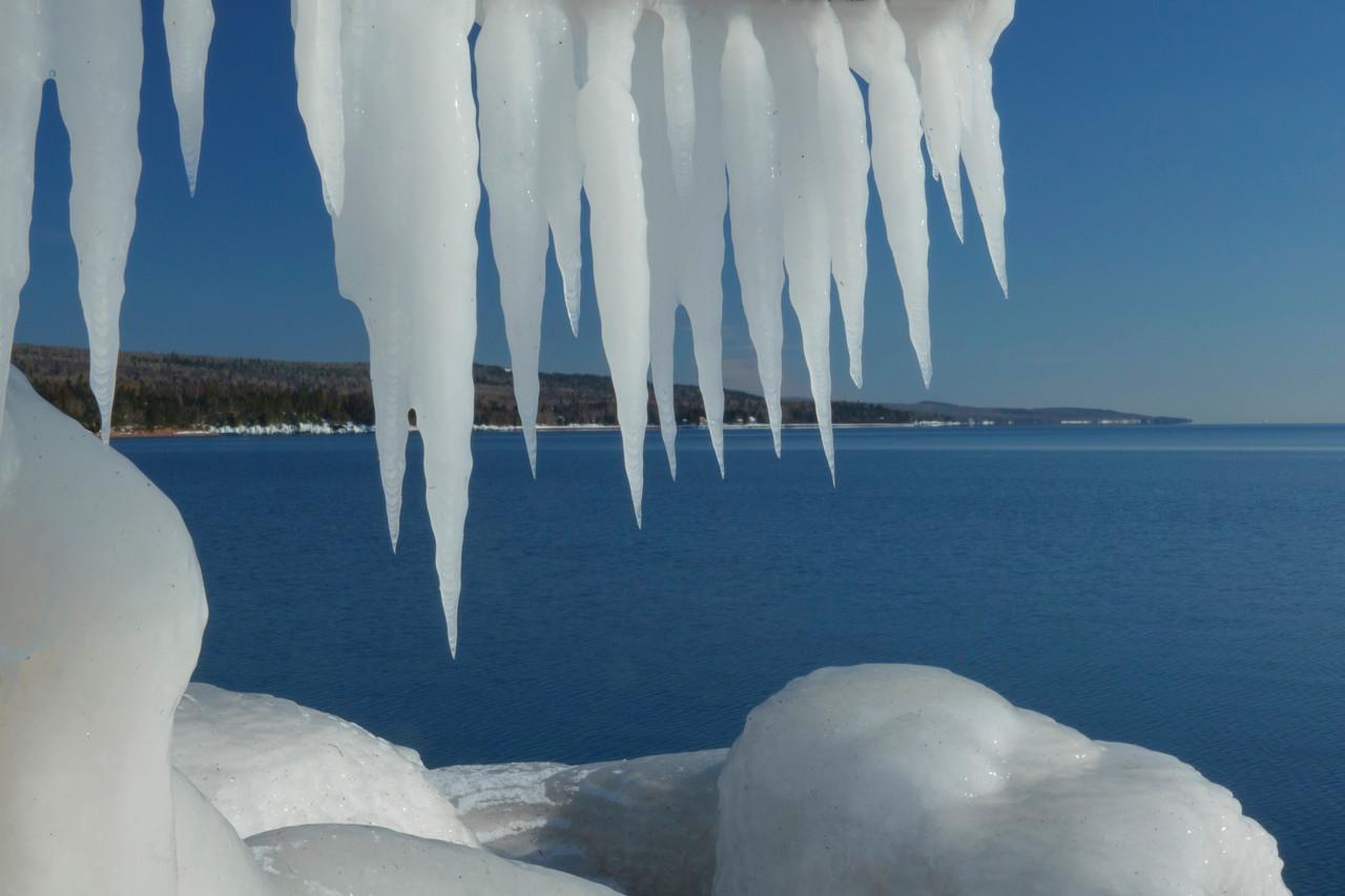 Ice Grand Marais Shoreline 001