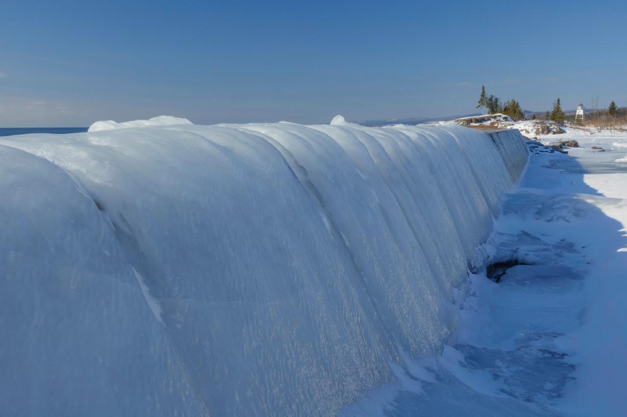 Ice Grand Marais Shoreline 003