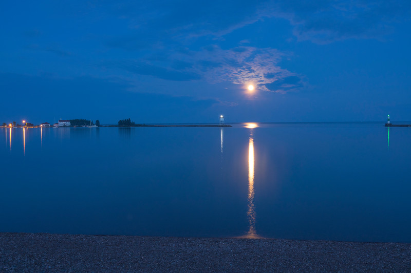 July Full Moon Grand Marais Harbor 002