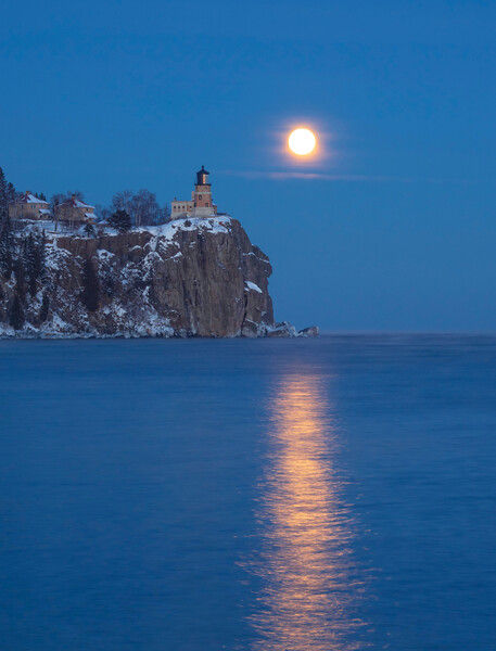 Split Rock Moonrise 005