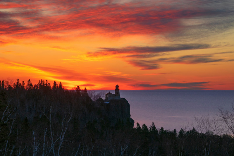 Sunrise Split Rock Lighthouse  004