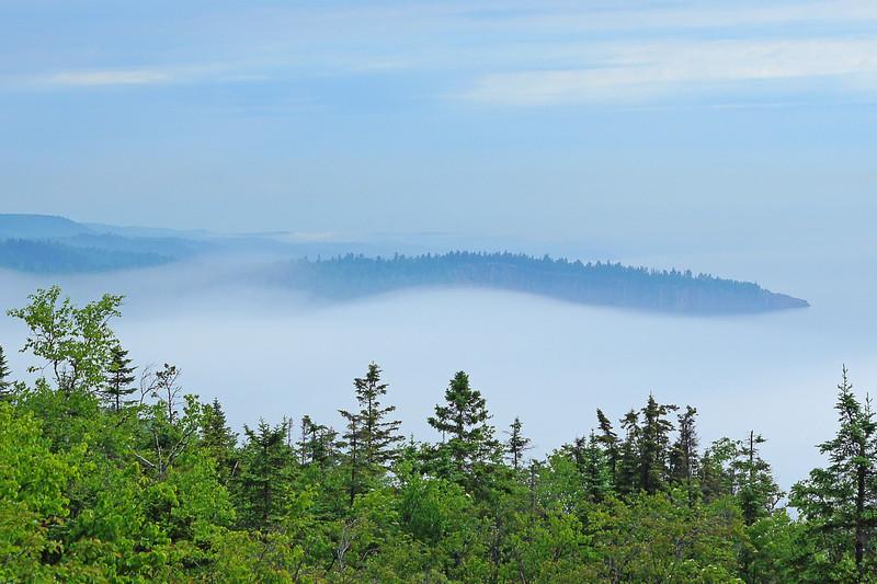 Shovel Point in the Fog