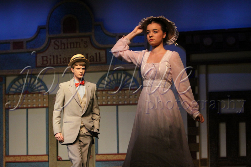 "<b>The Music Man—31 July 2010</b>  Our Park District has a wonderful theatre immersion program for tweens/teens called CITA. Here is one of my favorite photos of ""Professor"" Harold Hill and Marian Paroo."