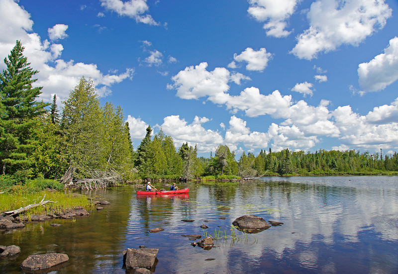 "Boundary Waters Canoe Area Wilderness<br /> <br /> This week I had the privilege of introducing another young person to the Boundary Waters Canoe Area Wilderness. Along with Matt's uncle Joe, the three of us spent the day canoeing up a series of lakes connected by the Temperance River to an old 1800's abandoned gold mine. I had written about this mine a couple of years ago but thought the trip was worthy of another ""Photo of the Week""."