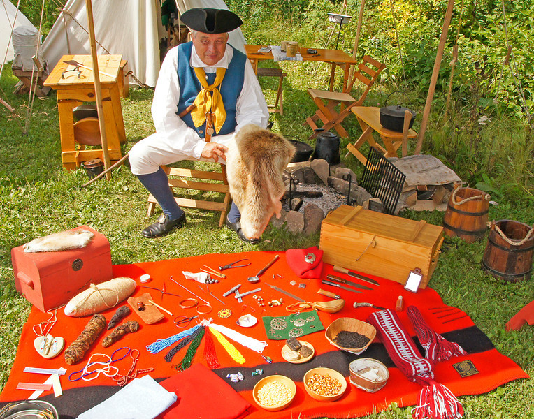 North West Company Period Trading Items<br /> <br /> It was fun to talk with the many volunteer voyageurs that set up tents and demonstrated what an earlier culture was like.
