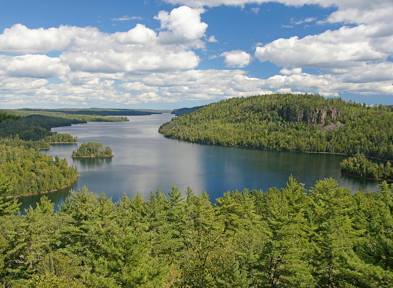 Mountain Lake Overlook East View<br /> <br /> We hiked part of the Border Route trail that took us to three of the most beautiful overlooks in the BWCAW. From the west end of Mountain Lake we could see for seven miles along the Canadian Border.