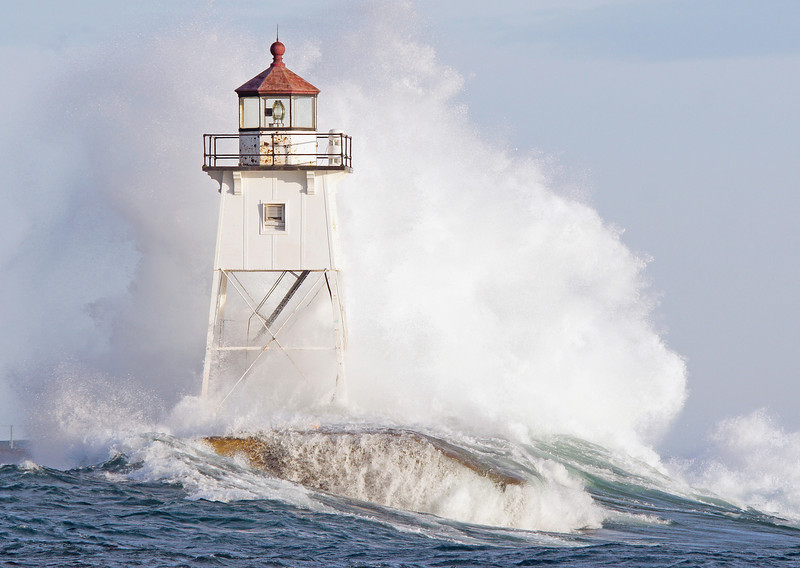 High Waves Grand Marais Lighthouse 002<br /> <br /> Both of these photos were taken from the car window while it was parked at the west break wall boat launch. It was the only dry spot I could find.
