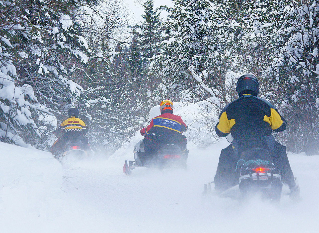 North Shore State Trail<br /> <br /> Winter brings snowmobilers from around the globe to ride the beautiful snow covered North Shore State Trail.