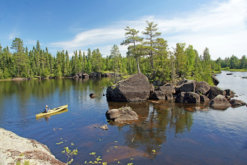 Rocky Island on Lake Three<br /> <br /> Last week I had the opportunity to visit the Boundary Waters Canoe Area Wilderness with a friend of mine, Paul Wannarka. There are over 1,500 miles of connected water routes in the one million acre BWCAW.<br />  <br /> We chose one of the more popular routes through the chain of lakes from Lake One to Lake Three.  Our destination was the rocky islands on the south end of Lake Three.  We discovered the islands a couple of years ago and hoped to return to photograph them under better light conditions.