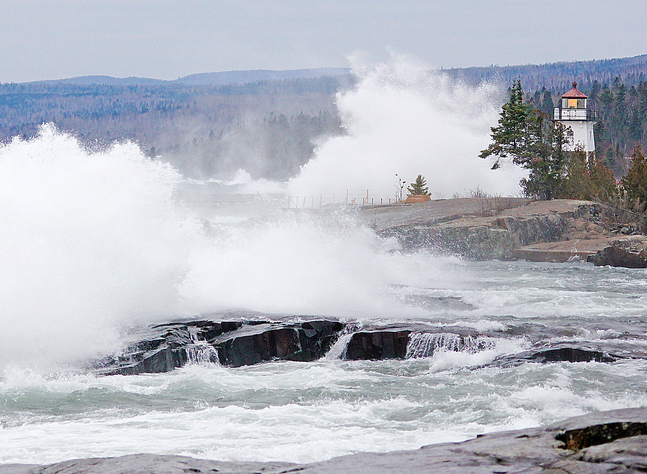 November Storm Grand Marais<br /> <br /> November is known for its big storms on Lake Superior.  The week started with high winds that created some very impressive waves along the North Shore.