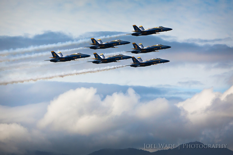 Angels<br /> <br /> The Blue Angels buzzed through town a few weeks back as they do this time of year, and put on another amazing show.  I always feel like a giddy little boy as I hear them roaring through their turns.  Thanks a million to my sailing friends for giving me one of the best seats in the house for the show!  I couldn't decide on just one shot of the week… so there's a special bonus shot below!<br /> <br /> ISO 640, 280mm, f6.3, 1/4000 second exposure.