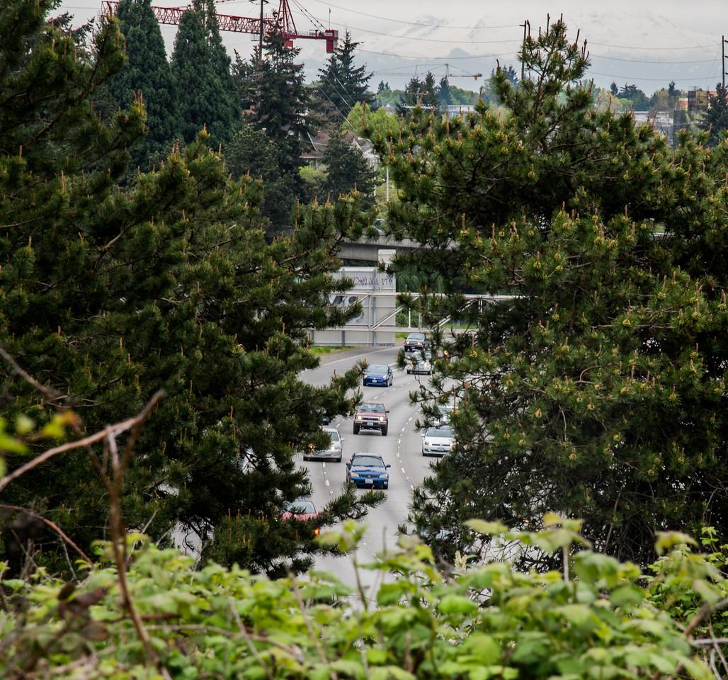 Interstate Highway 5 through Seattle