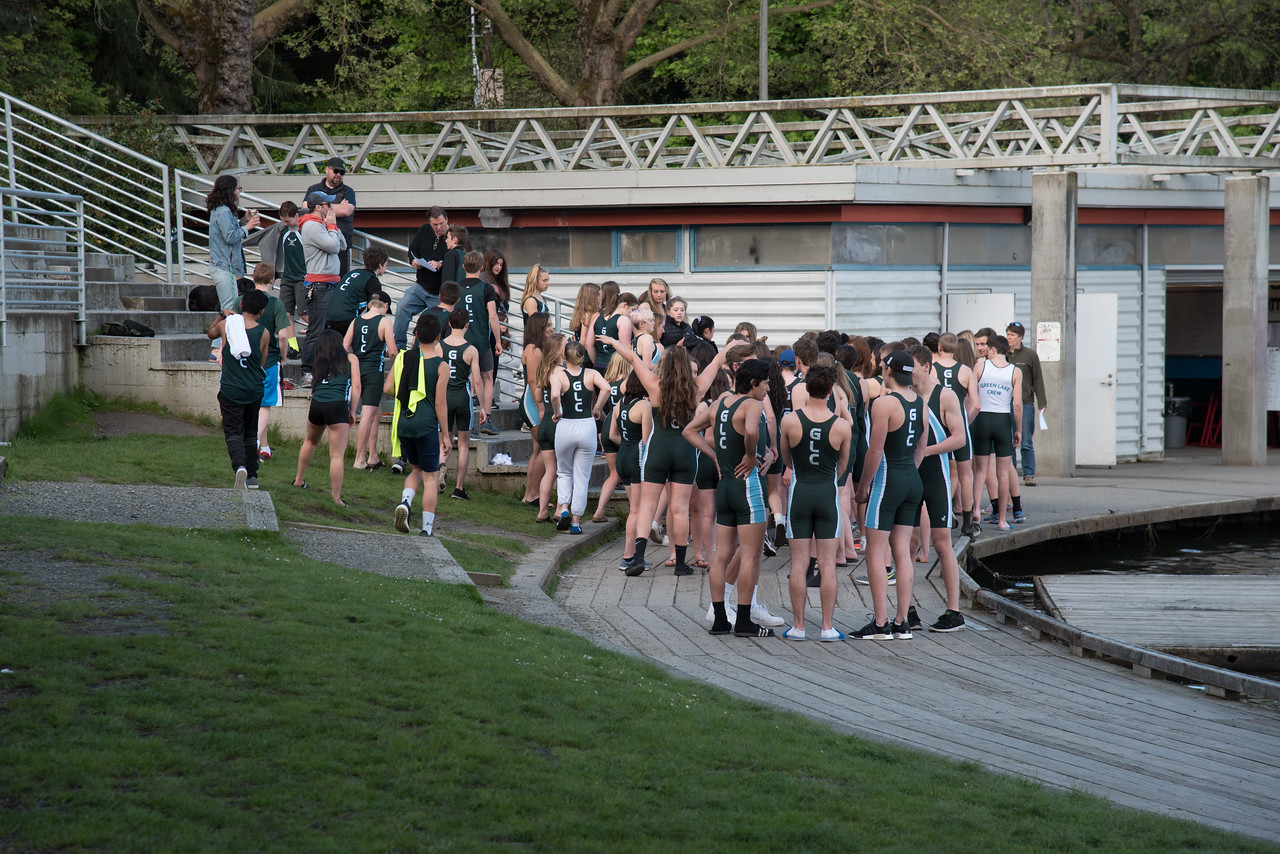 Green Lake Crew dispersing after group picture.