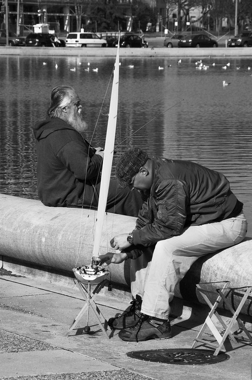 Feb. 03 2008<br /> <br /> Fixing the sailboat - tried my hand at portraiture - more converting to b/w actually. Need to improve on my level adjustments etc. This just doesn't seem to 'pop' for me :(