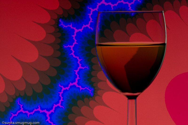 """July 26 2008   Fractals, a glass of colored water and lots of fun! (more images can be found <a href = """"http://sunita.smugmug.com/gallery/5542488_oNmqv/1/339489739_fKPK3#339488317"""">here</a>"""