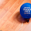 07-30-2009<br /> <br /> Balloon<br /> <br /> No, not an ad for Trader Joe's :-) (though we are regular shopper there!) but Aarav's balloon on the kitchen floor. In the evenings when I bring him home from daycare, he always plays in the kitchen while I am cooking. I guess most children his age like to have the parent(s) within sight and reach.