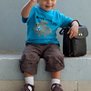 Aarav at 18 months - with his grandfather's bag :-)