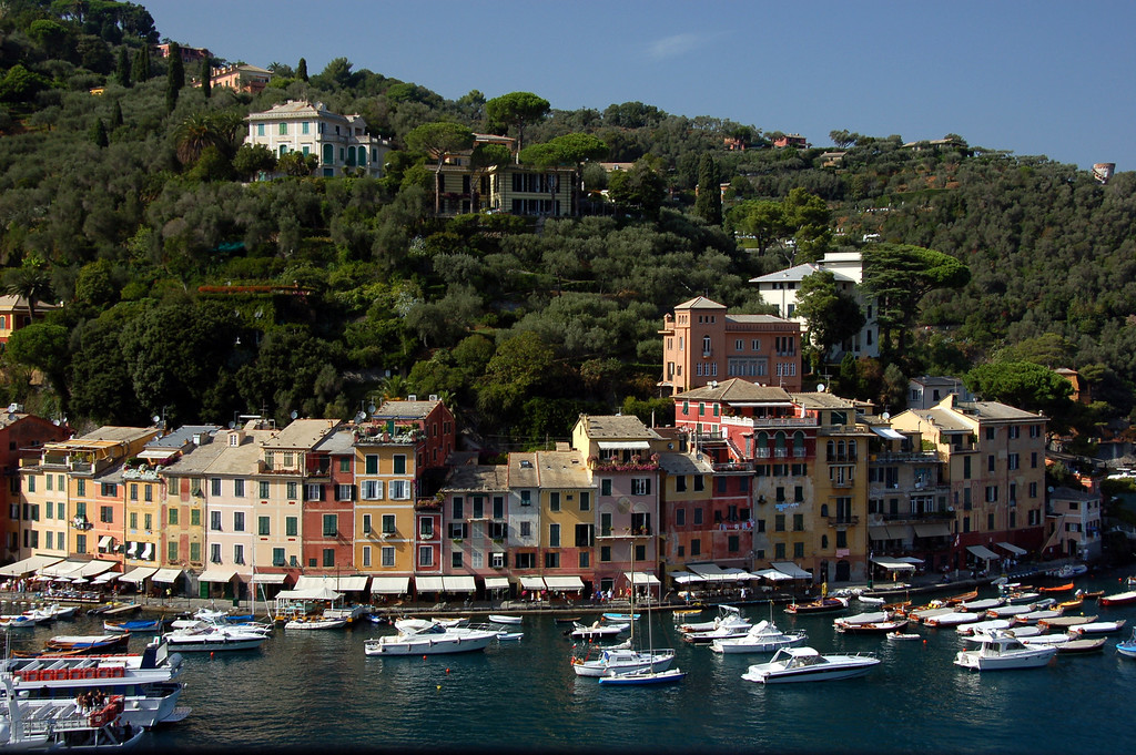 August 29 2007 <br /> <br /> Portofino, Italy <br /> <br /> A very popular destination for the rich (esp. from Lombardia) - apparently even Berlusconi has a villa here.