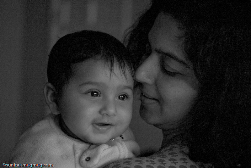 Dec. 26 <br /> <br /> Sahana and Soumya <br /> <br /> Finally, a few photos of daughter and mother...after 6 months! Hopefully the weather should be better tomorrow for some street photography in the capital...