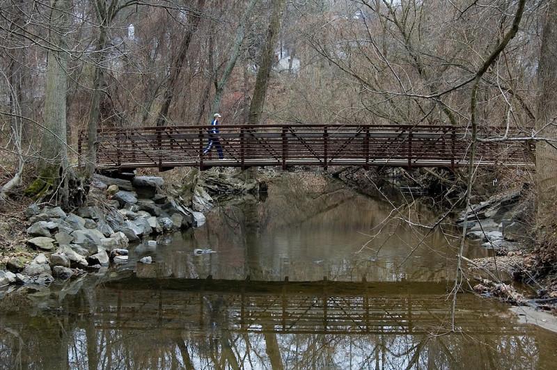 Dec. 16 <br /> <br /> Bridge across the creek at Rock Creek Park