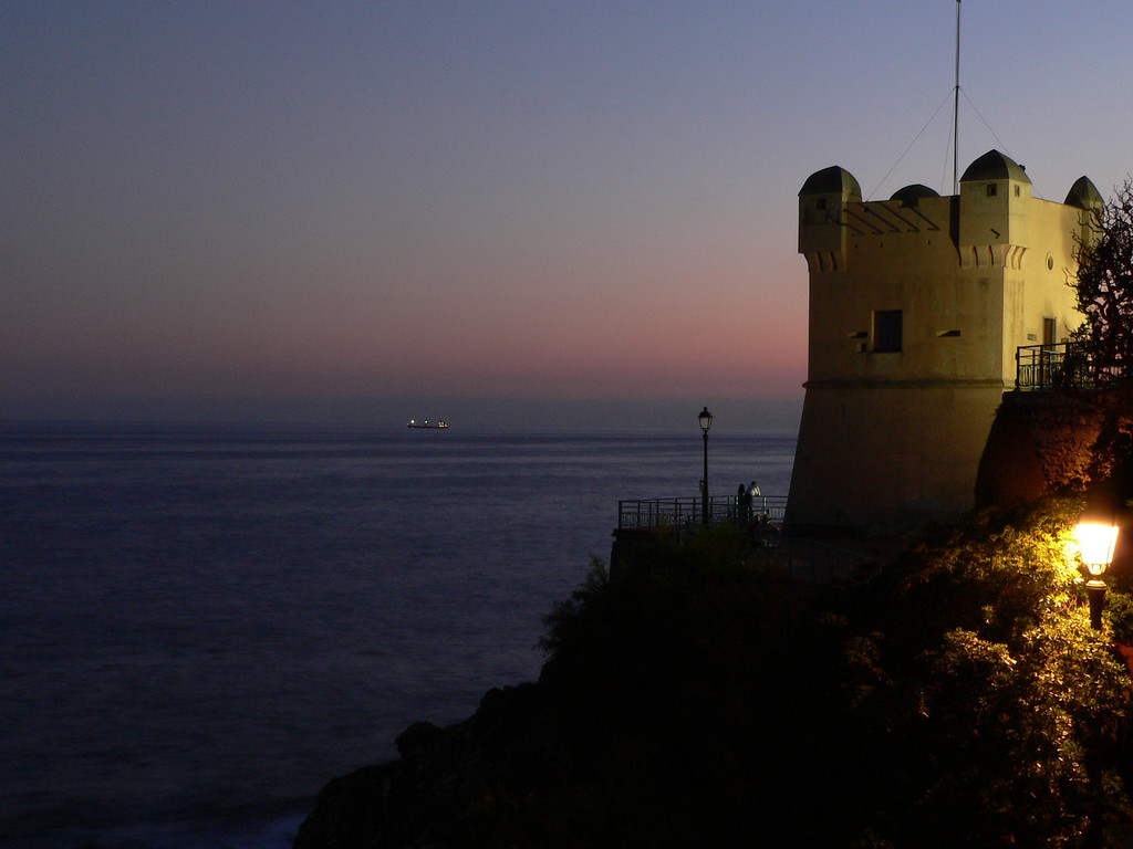 July 12 <br /> <br /> Sunset in Nervi (a suburb of Genoa)