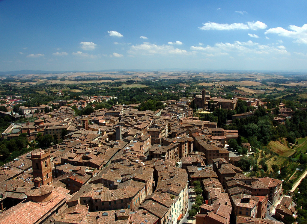 July 23<br /> <br /> View of Siena from the top of Torre del Mangia, Siena