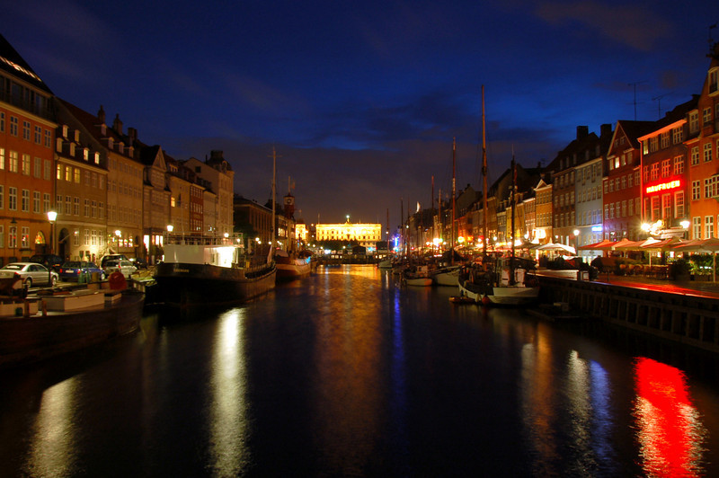July 5 <br /> <br /> Night lights (Nyhavn, Copenhagen)<br /> <br /> We're on our Europe trip! yay! (also hence the break in posting). First stop Denmark. It rained all day and it was sooo windy - but there was a break in the weather after 10:30 p.m. and so we ventured out for some night lights. Haven't had a chance to check out other DPs, but should get around to them in the next couple of days.