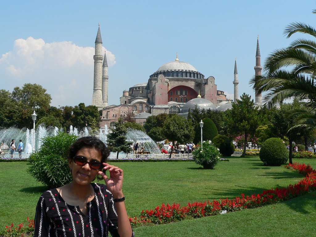September 05 2007 <br /> <br /> Istanbul, Turkey <br /> <br /> In front of the Hagia Sofia