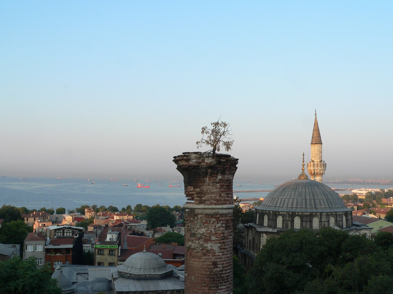 September 01 2007 <br /> <br /> Istanbul, Turkey <br /> <br /> View of the Sea of Marmara from our hotel