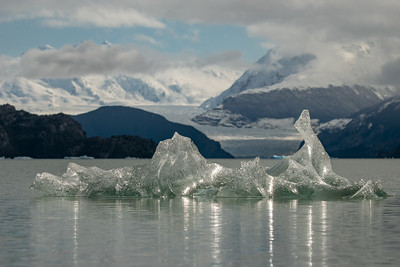 Iceberg over Grey Lake , in Torres del Paine National Park