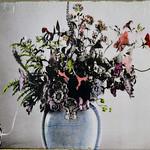 Bouquet in Blue Vase